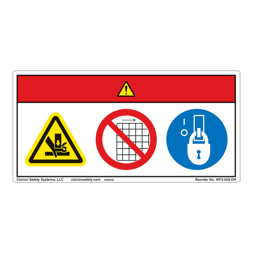 Danger/Crush Hazard Label (WF3-029-DH)