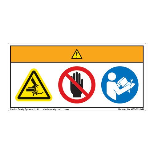 Warning/Crush Hazard Label (WF3-032-WH)