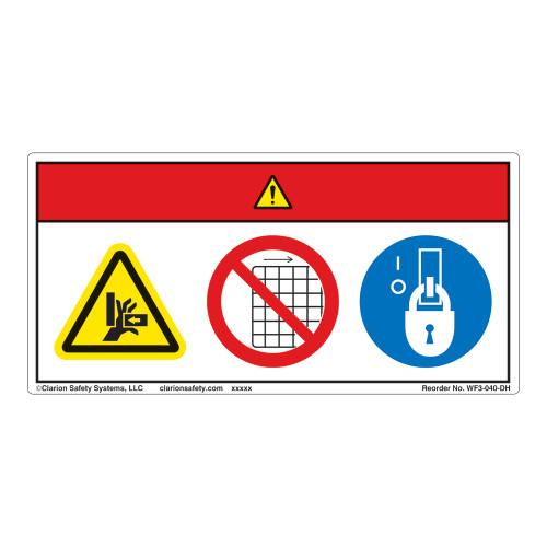Danger/Crush Hazard Label (WF3-040-DH)