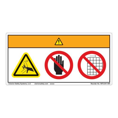 Warning/Crush Hazard Label (WF3-041-WH)
