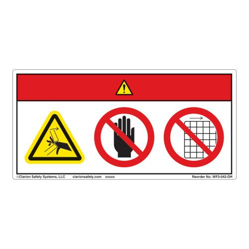 Danger/Crush Hazard Label (WF3-042-DH)