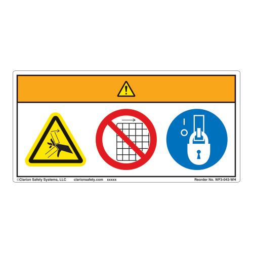 Warning/Crush Hazard Label (WF3-043-WH)