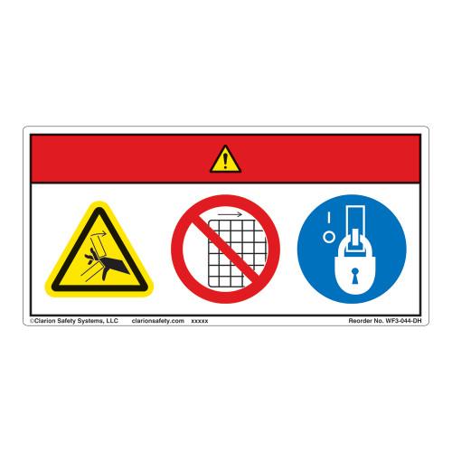 Danger/Crush Hazard Label (WF3-044-DH)