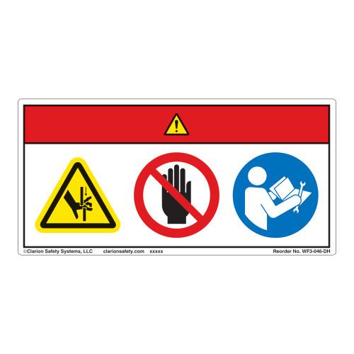 Danger/Crush Hazard Label (WF3-046-DH)