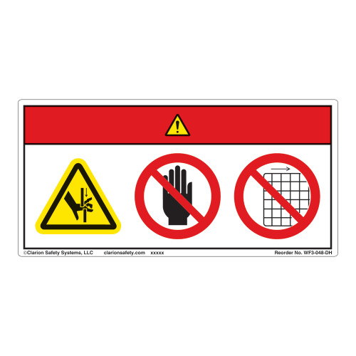 Danger/Crush Hazard Label (WF3-048-DH)