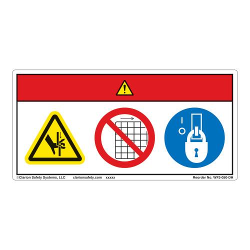 Danger/Crush Hazard Label (WF3-050-DH)
