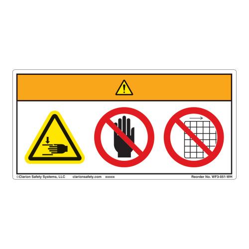 Warning/Crush Hazard Label (WF3-051-WH)