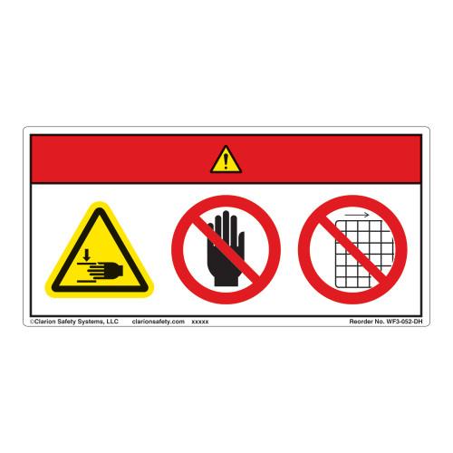 Danger/Crush Hazard Label (WF3-052-DH)