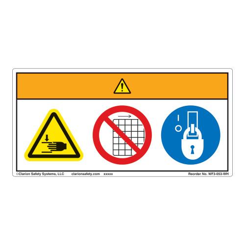 Warning/Crush Hazard Label (WF3-053-WH)