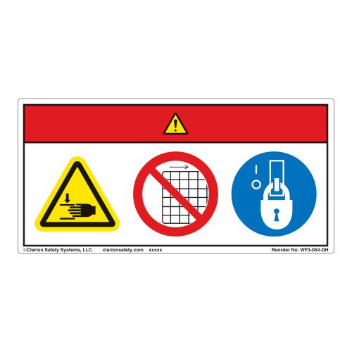 Danger/Crush Hazard Label (WF3-054-DH)