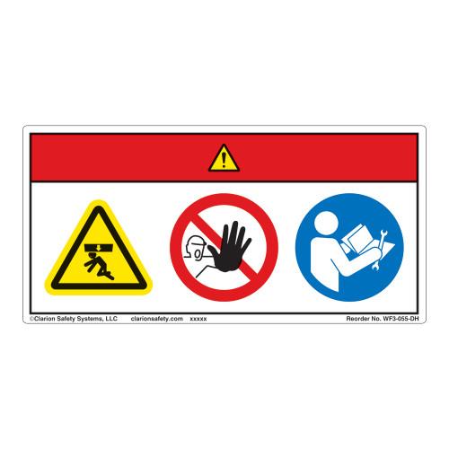 Danger/Crush Hazard Label (WF3-055-DH)