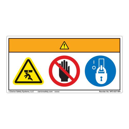 Warning/Crush Hazard Label (WF3-057-WH)
