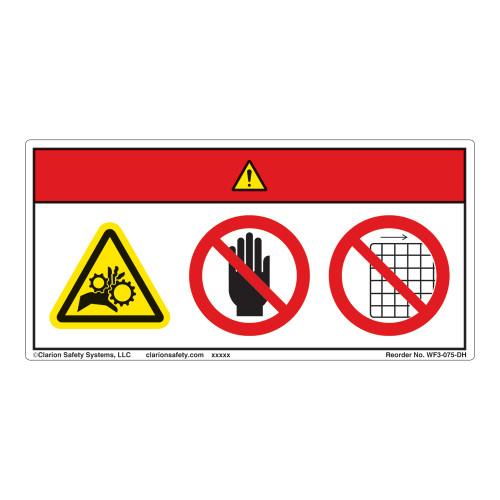 Danger/Entanglement Hazard Label (WF3-075-DH)