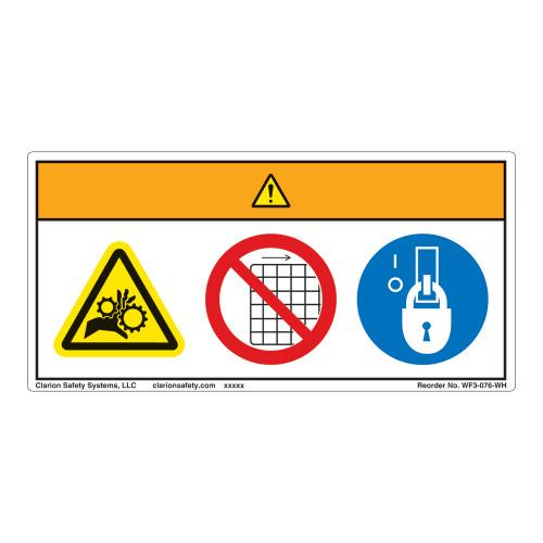 Warning/Entanglement Hazard Label (WF3-076-WH)