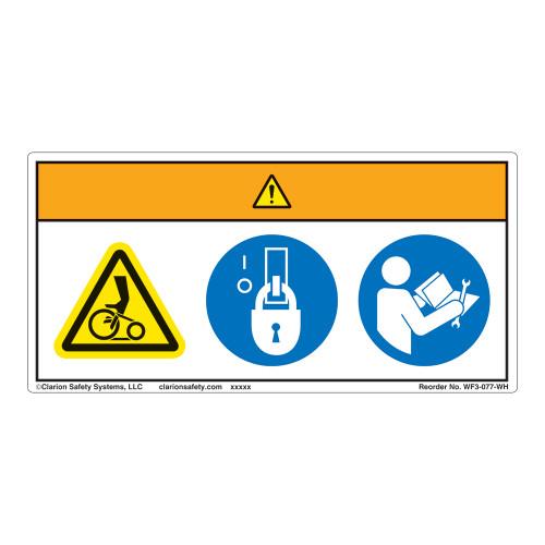Warning/Entanglement Hazard Label (WF3-077-WH)