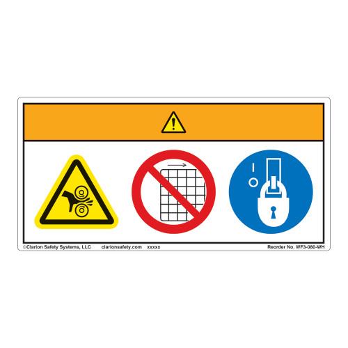 Warning/Entanglement Hazard Label (WF3-080-WH)