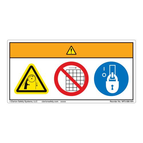 Warning/Entanglement Hazard Label (WF3-086-WH)