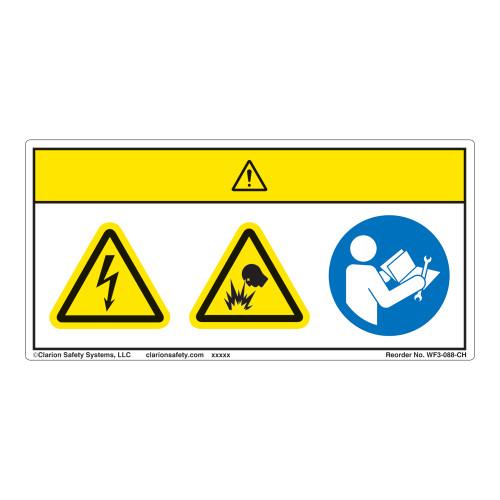 Caution/Electric Shock Hazard Label (WF3-088-CH)