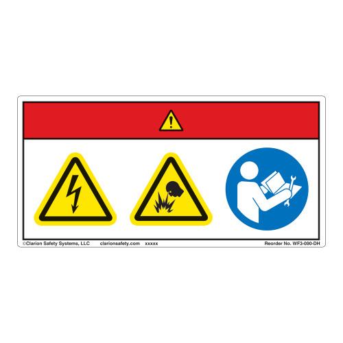 Danger/Electric Shock Hazard Label (WF3-090-DH)