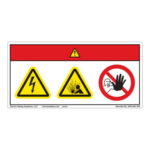 Danger/Electric Shock Hazard Label (WF3-091-DH)