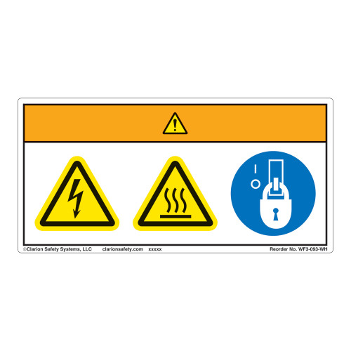 Warning/Hot Surface Label (WF3-093-WH)