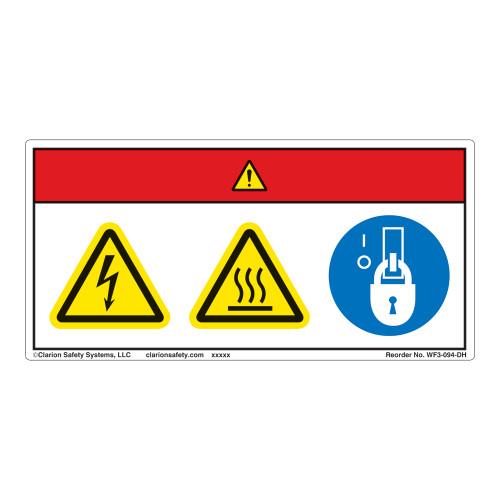 Danger/Hot Surface Label (WF3-094-DH)