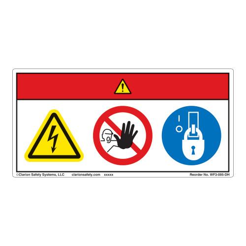 Danger/Hazardous Voltage Label (WF3-095-DH)