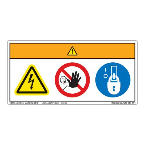 Warning/Hazardous Voltage Label (WF3-096-WH)