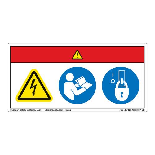 Danger/Hazardous Voltage Label (WF3-097-DH)