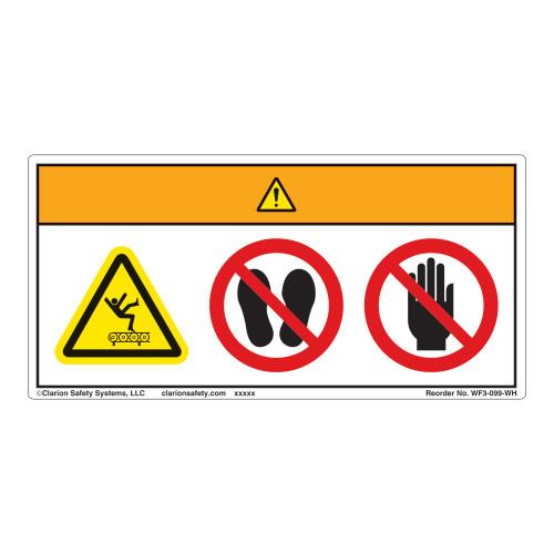 Warning/Keep Off Conveyor Label (WF3-099-WH)