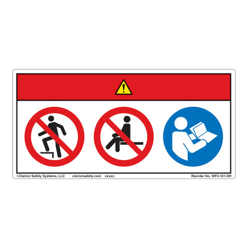 Danger/Do Not Step Label (WF3-101-DH)