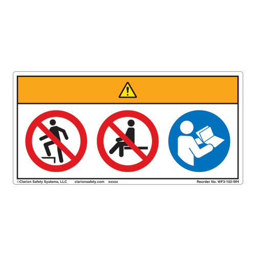 Warning/Do Not Step Label (WF3-102-WH)