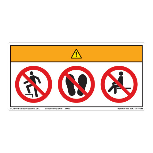 Warning/Do Not Step Label (WF3-103-WH)