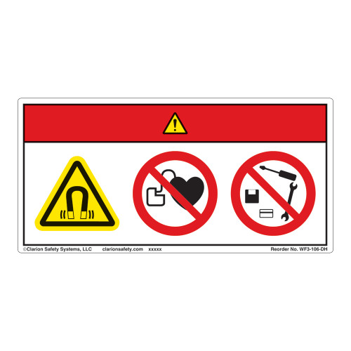 Danger/Magnetic Fields Label (WF3-106-DH)