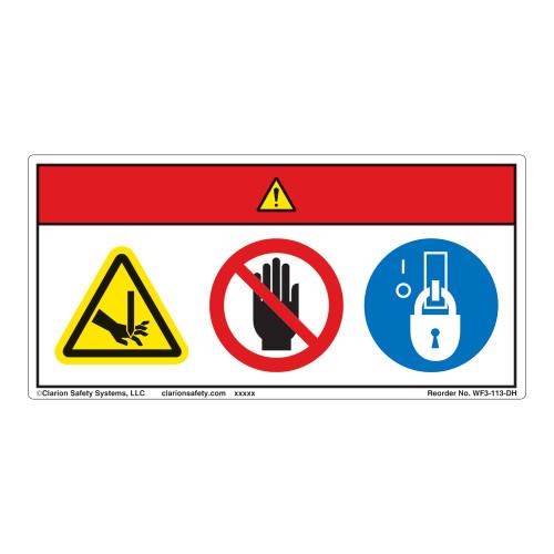 Danger/Shear Hazard Label (WF3-113-DH)