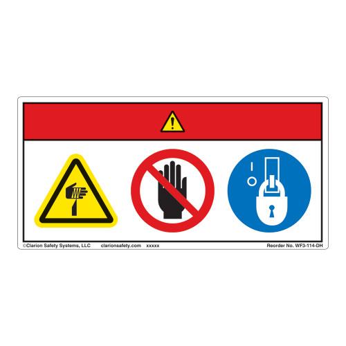 Danger/Cut Hazard Label (WF3-114-DH)