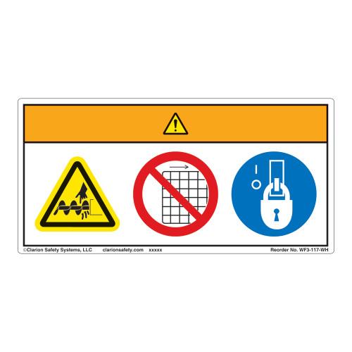 Warning/Cut Hazard Label (WF3-117-WH)