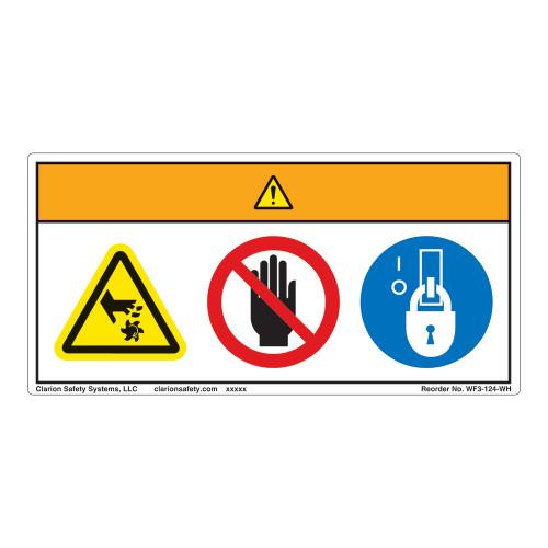 Warning/Rotating Blade Label (WF3-124-WH)