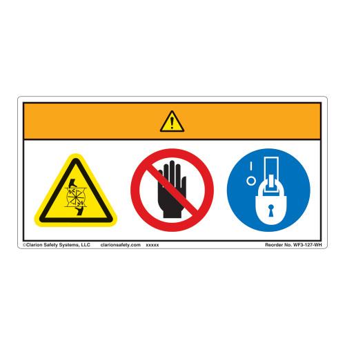 Warning/Rotating Blade Label (WF3-127-WH)