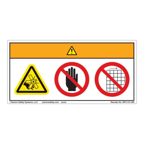 Warning/Rotating Blade Label (WF3-131-WH)