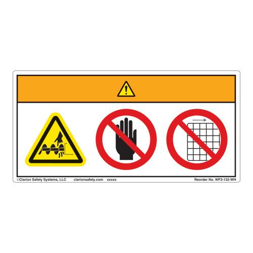 Warning/Cut Hazard Label (WF3-132-WH)