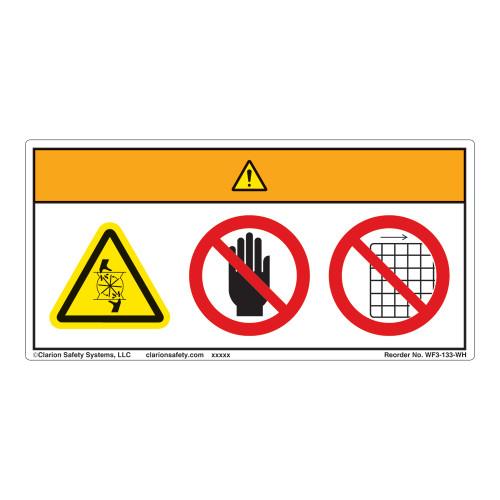 Warning/Rotating Blade Label (WF3-133-WH)