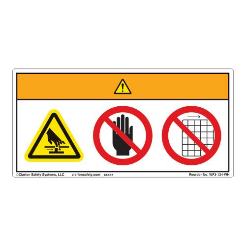 Warning/Cut Hazard Label (WF3-134-WH)