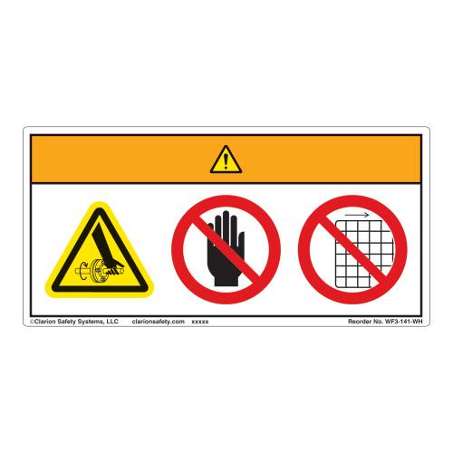 Warning/Entanglement Label (WF3-141-WH)
