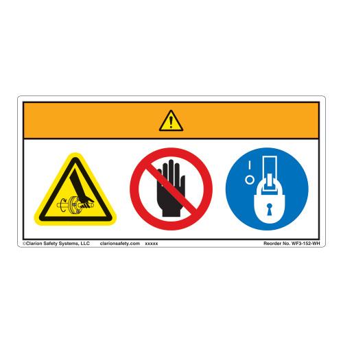 Warning/Entanglement Label (WF3-152-WH)