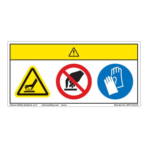 Caution/Hot Surface Label (WF3-153-CH)