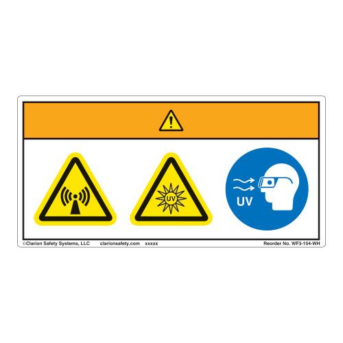 Warning/Radiation Hazard Label (WF3-154-WH)
