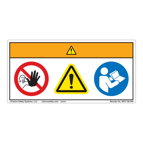 Warning/Restricted Access Label (WF3-156-WH)