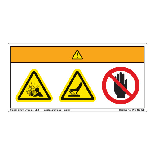 Warning/Pressurized Device Label (WF3-157-WH)