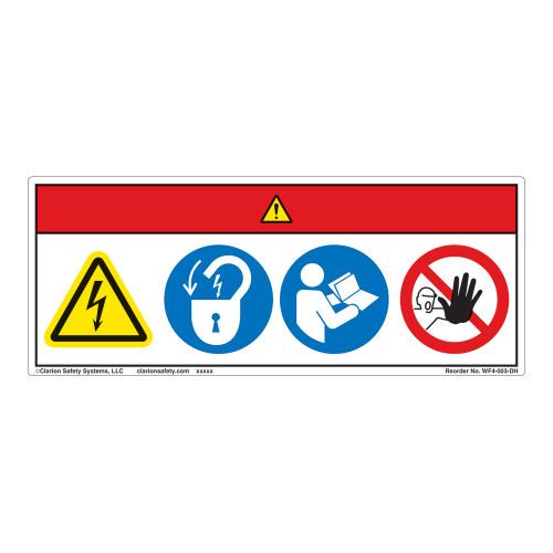 Danger/Hazardous Voltage Label (WF4-003-DH)